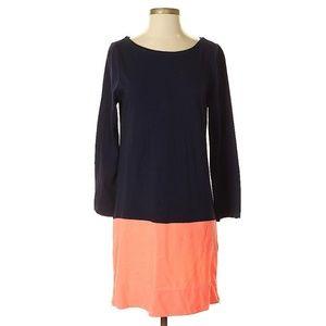 🌿J. Crew Navy Coral Color Block Dress